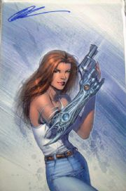 Witchblade #46 Virgin Variant Signed Keu Cha